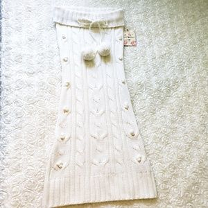 NWT Derek Heart White Strapless Sweater Dress